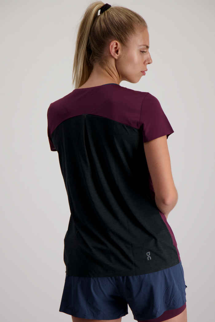 On Performance-T t-shirt femmes Couleur Bordeaux 2