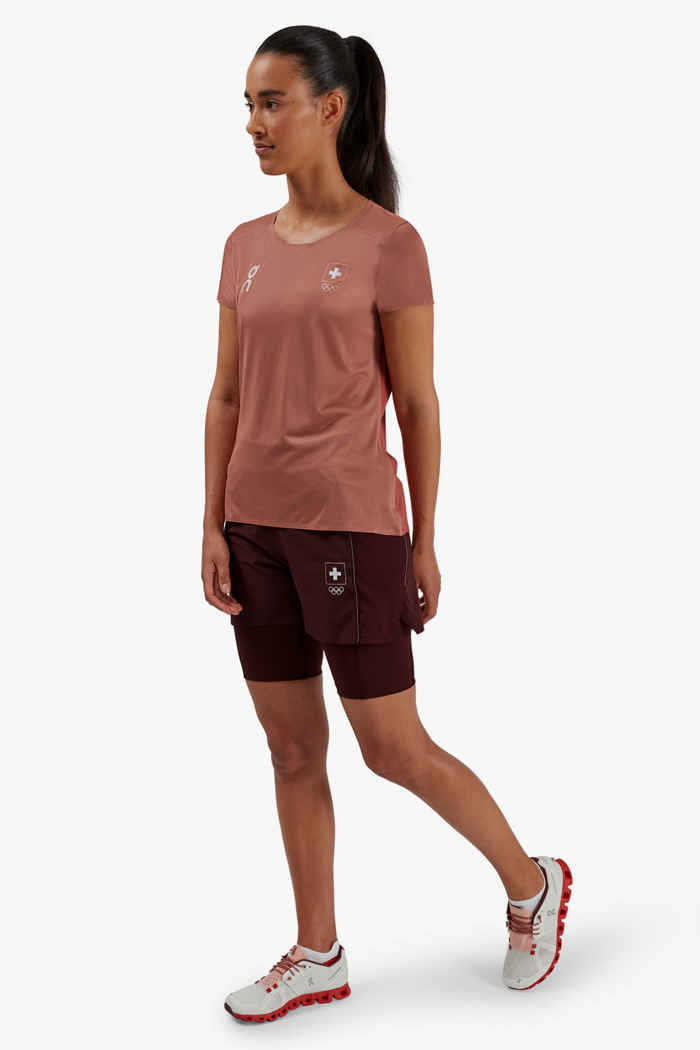 On Swiss Olympic Active 2in1 short donna 2