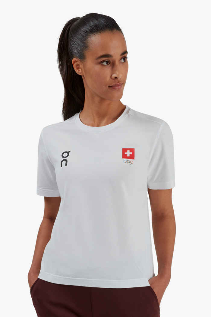 On Swiss Olympic Graphic-T t-shirt donna 1