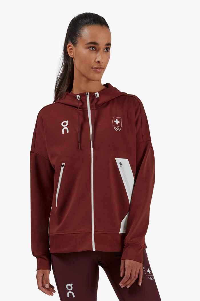 On Swiss Olympic hoodie femmes 1