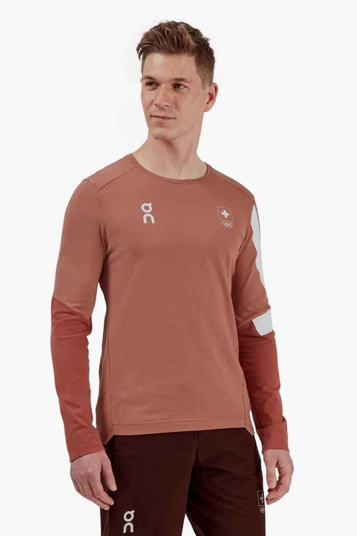 On Swiss Olympic Long-T Long-T longsleeve uomo 1