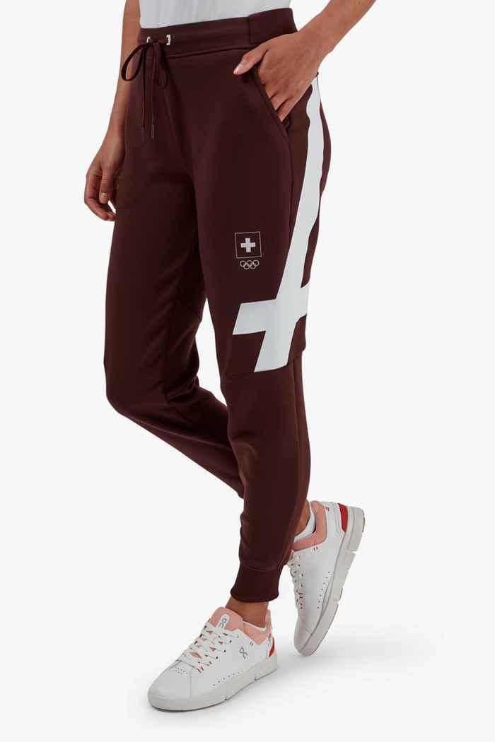 On Swiss Olympic Sweat pantalon de course femmes 1