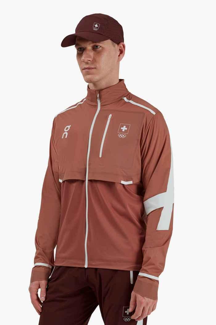 On Swiss Olympic Weather giacca da corsa uomo 1