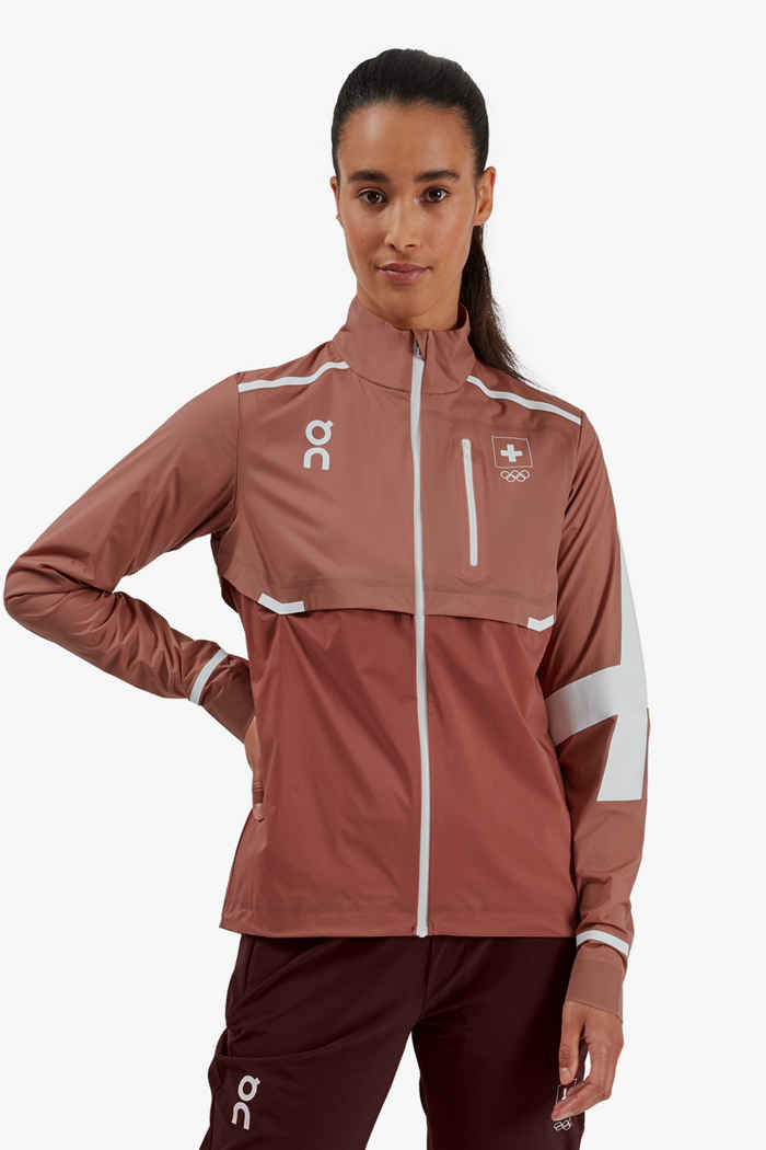 On Swiss Olympic Weather veste de course femmes 1