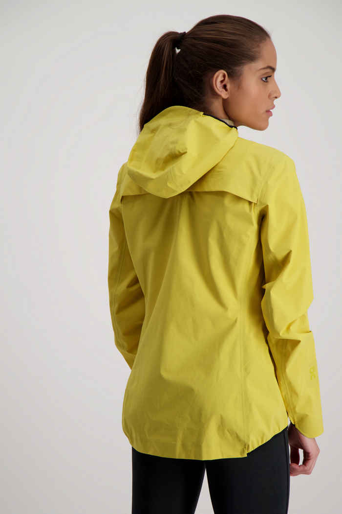 On Waterproof giacca da corsa donna Colore Giallo 2