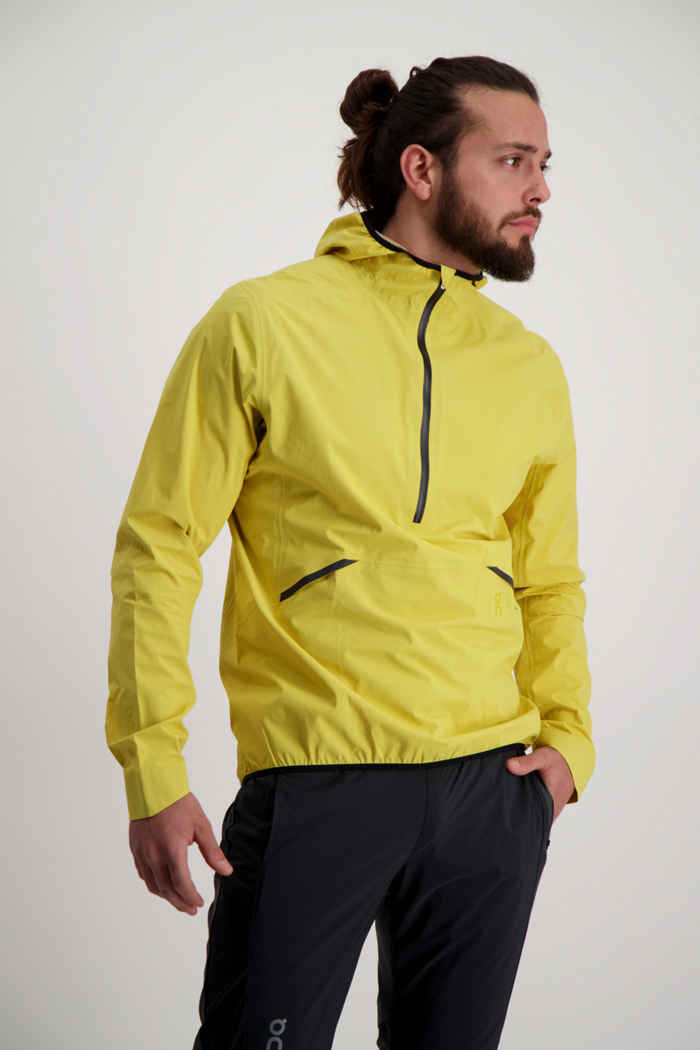 On Waterproof giacca da corsa uomo Colore Giallo 1