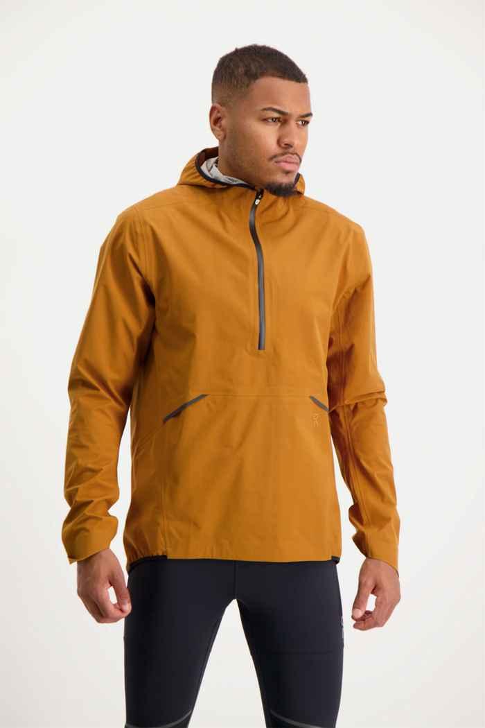 On Waterproof giacca da corsa uomo Colore Marrone 1