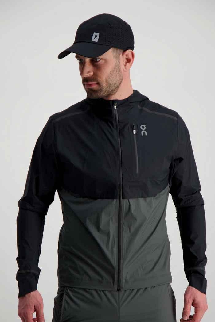 On Weather veste de course hommes Couleur Noir/gris 1