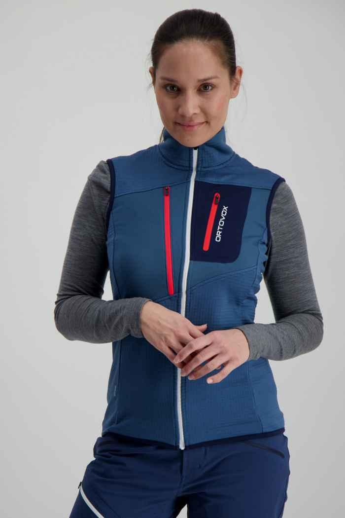 Ortovox Fleece Grid gilet femmes Couleur Bleu 1