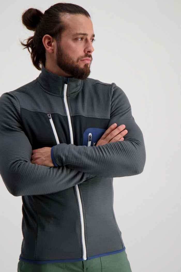 Ortovox Fleece Grid midlayer uomo Colore Nero-grigio 1
