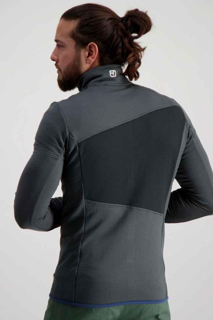 Ortovox Fleece Grid midlayer uomo Colore Nero-grigio 2
