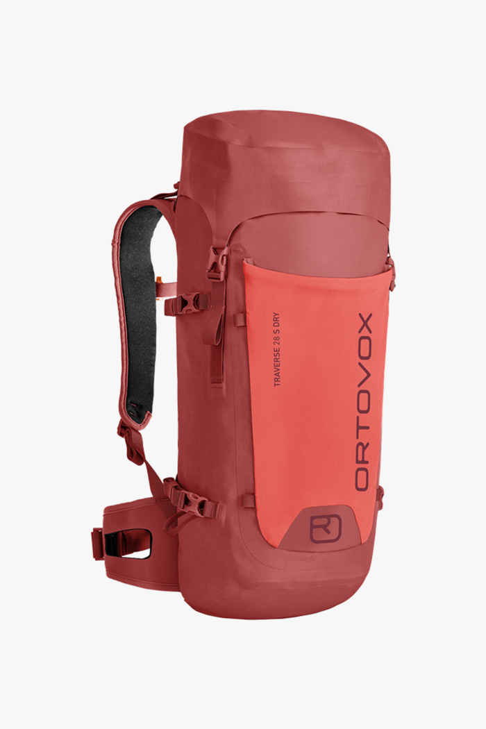 Ortovox Traverse Dry S 28 L sac à dos de randonnée Couleur Rouge 1