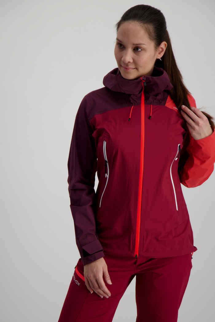 Ortovox Westalpen 3L Light giacca outdoor donna Colore Bacca 1