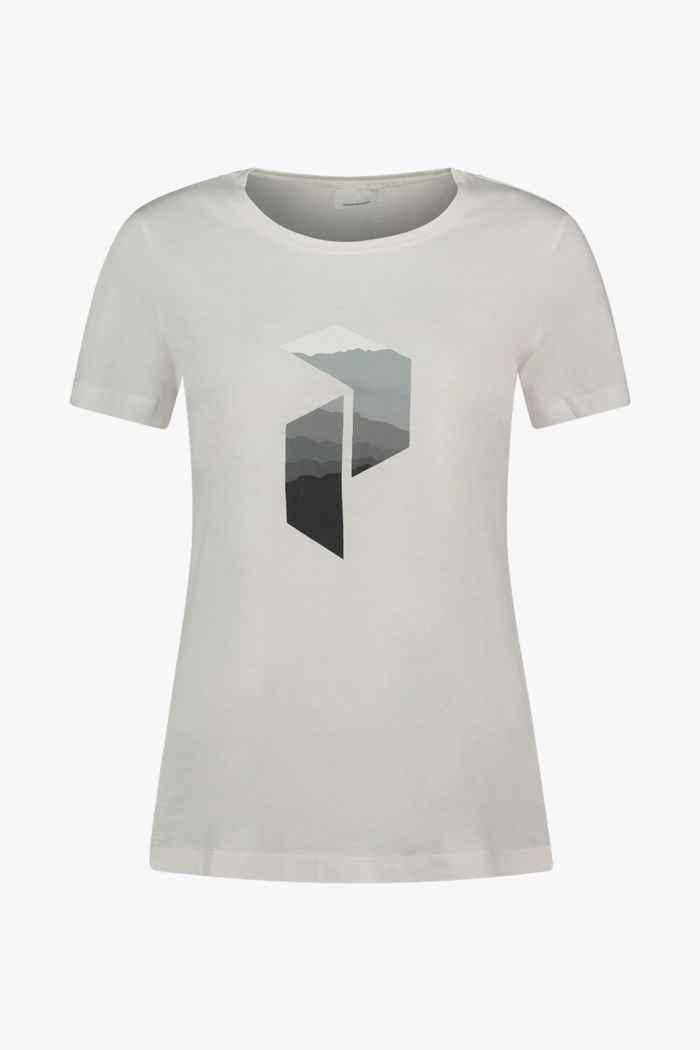 Peak Performance Explore Big P t-shirt donna Colore Bianco 1