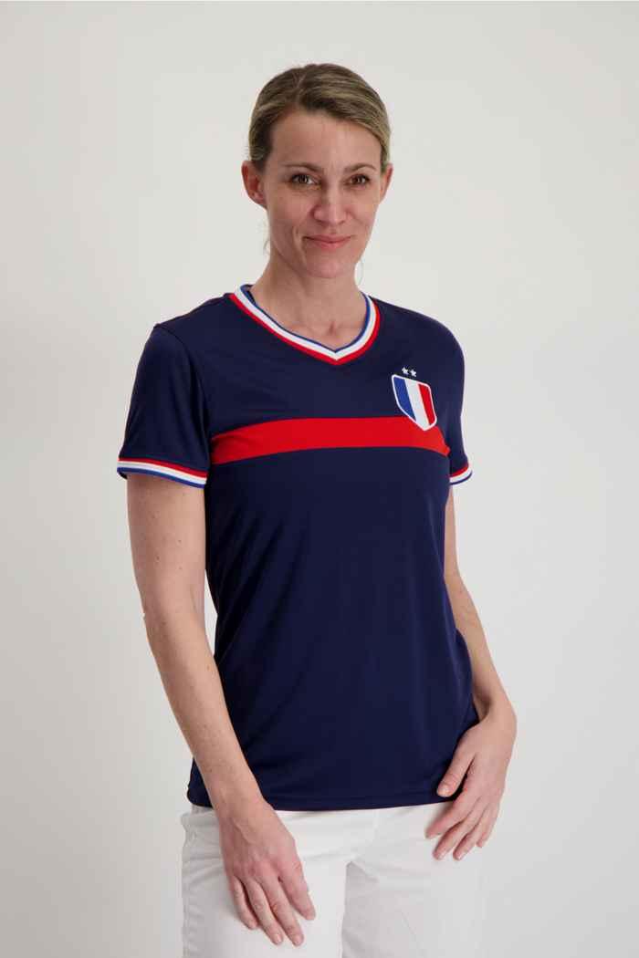 Powerzone Frankreich Fan Damen T-Shirt 1