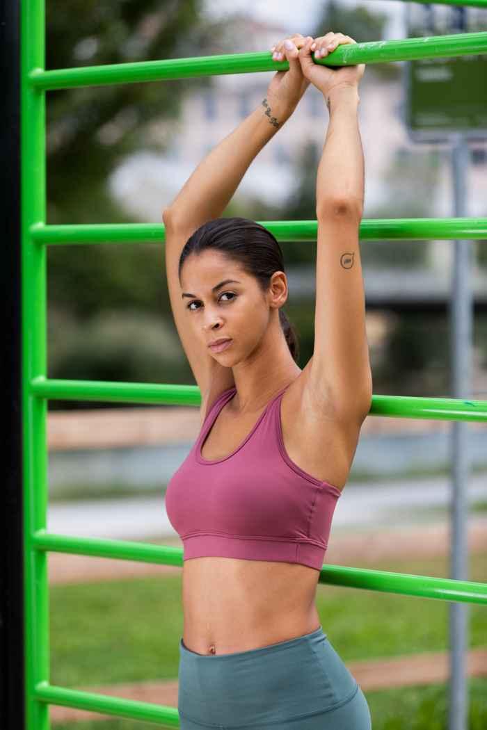 Powerzone soutien-gorge de sport femmes Couleur Berry 1
