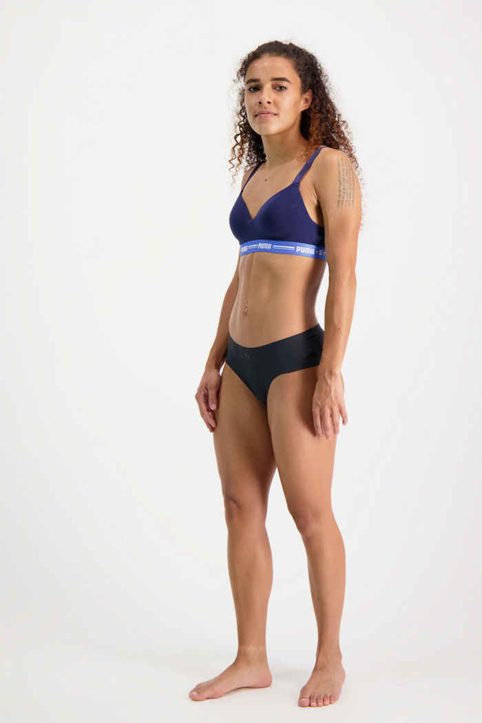 Puma 2-Pack Seamless Microfiber Hipster Damen Slip Farbe Schwarz 1