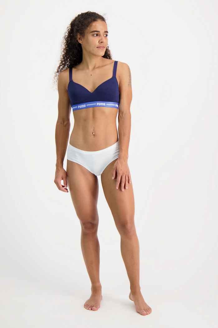 Puma 2-Pack Seamless Microfiber Hipster slip femmes Couleur Blanc 1