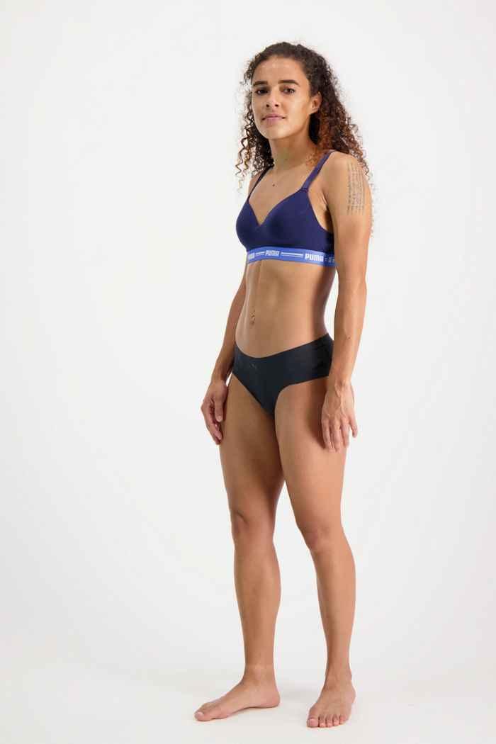 Puma 2-Pack Seamless Microfiber Hipster slip femmes Couleur Noir 1