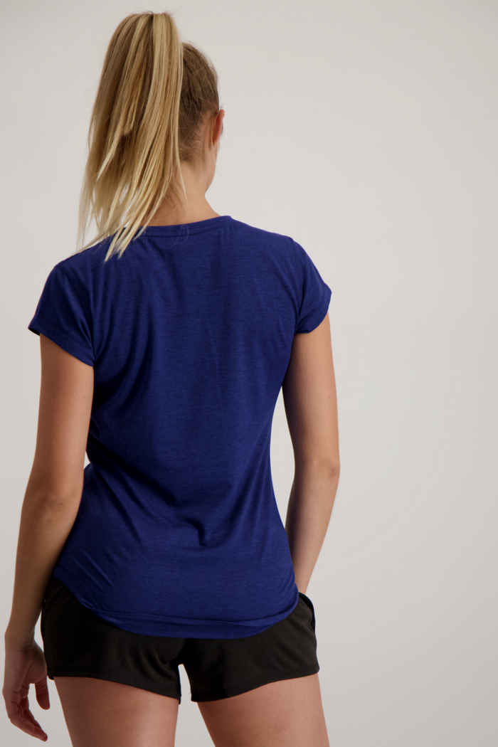 Puma Favourite Heather Cat Damen T-Shirt Farbe Blau 2