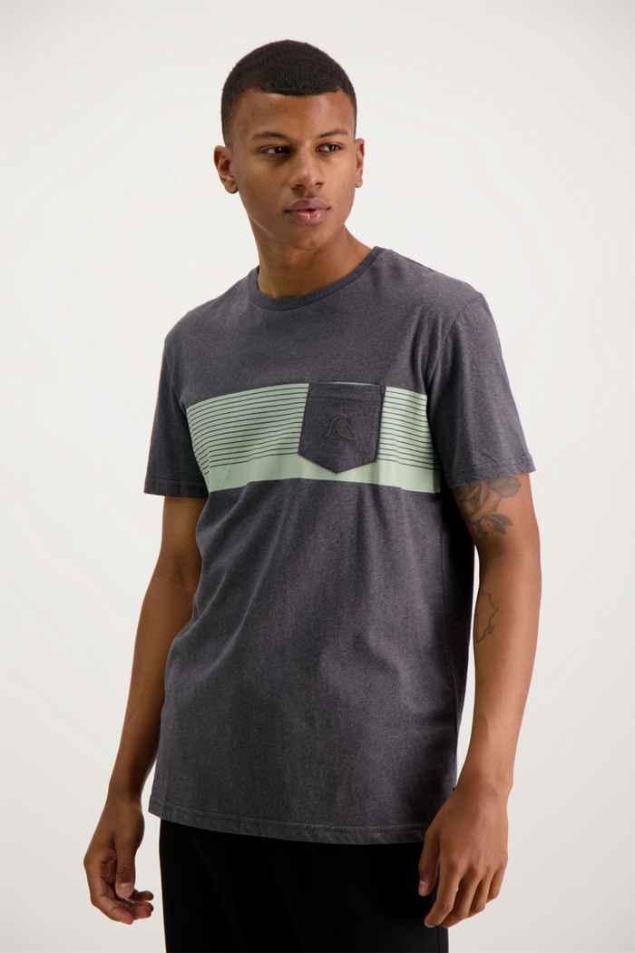 Quiksilver Basic Stripe t-shirt uomo Colore Antracite 1