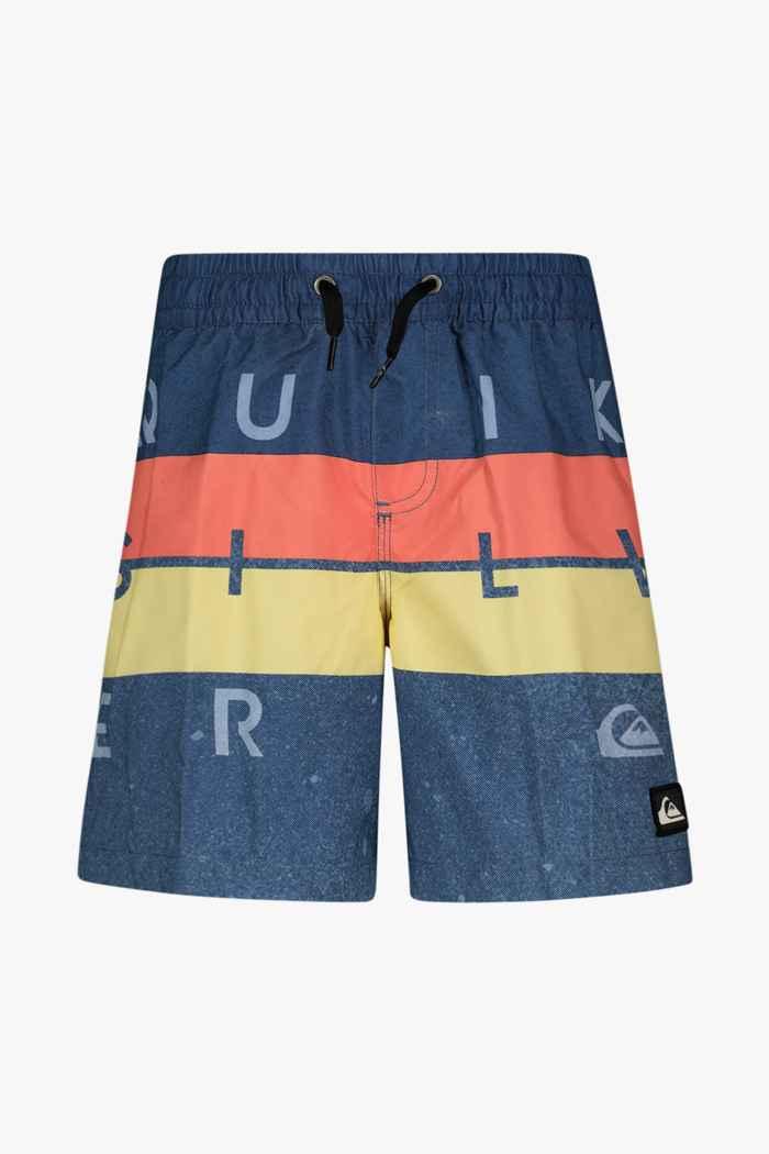 Quiksilver Word Block 15 Inch maillot de bain garçons Couleur Bleu 1
