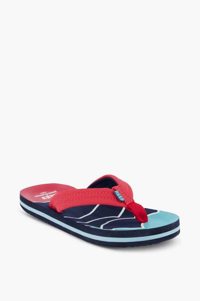 Reef Ahi tongs enfants Couleur Bleu/rouge 1