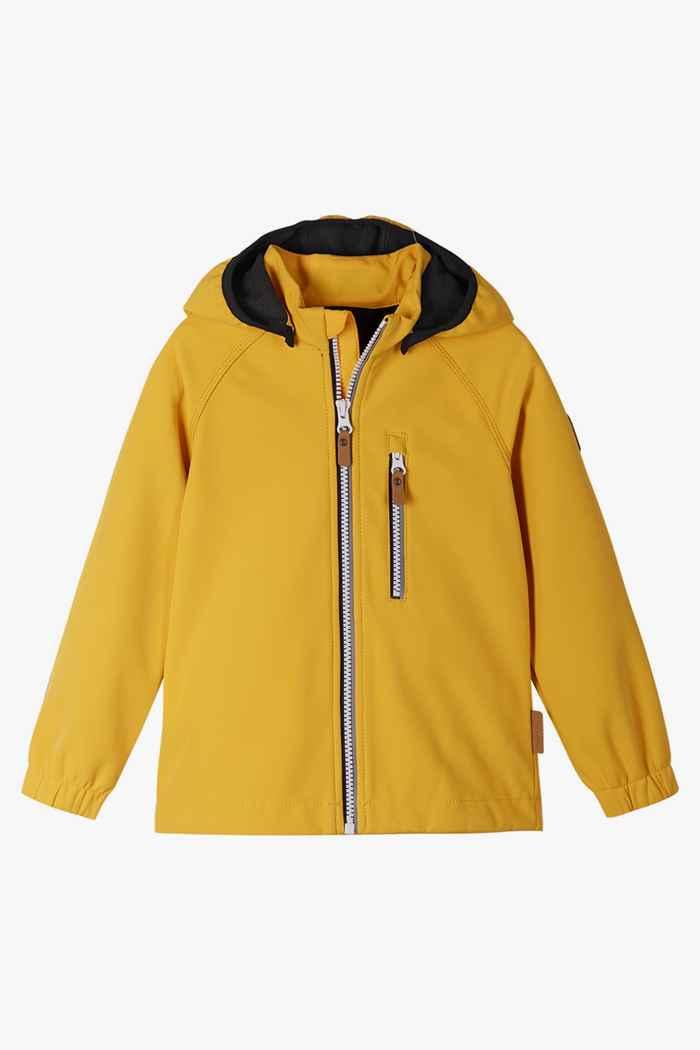 Reima Vantti Mini Kinder Softshelljacke Farbe Gelb 1