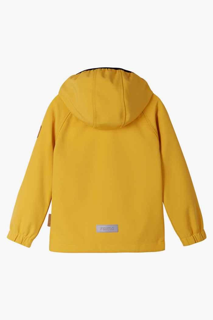 Reima Vantti Mini Kinder Softshelljacke Farbe Gelb 2