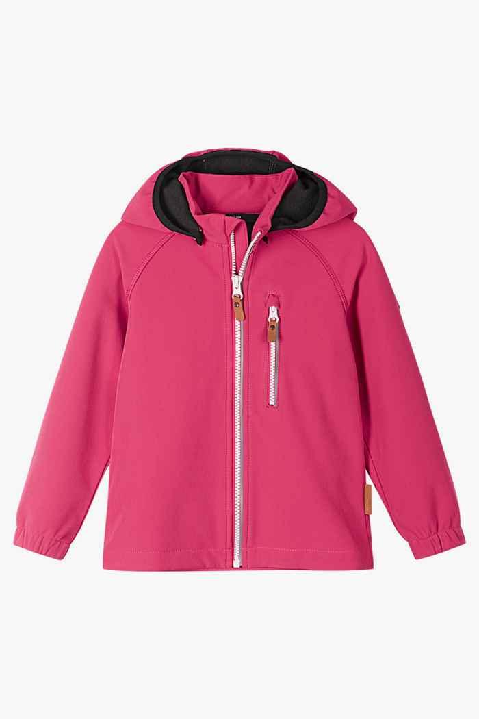 Reima Vantti Mini veste softshell filles Couleur Rose vif 1