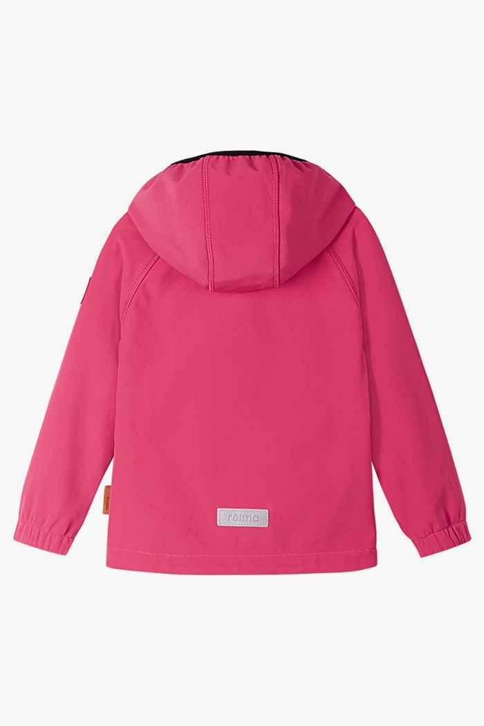 Reima Vantti Mini veste softshell filles Couleur Rose vif 2