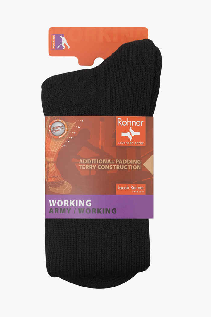 Rohner Swiss Army 45-46 chaussettes hommes Couleur Noir 1