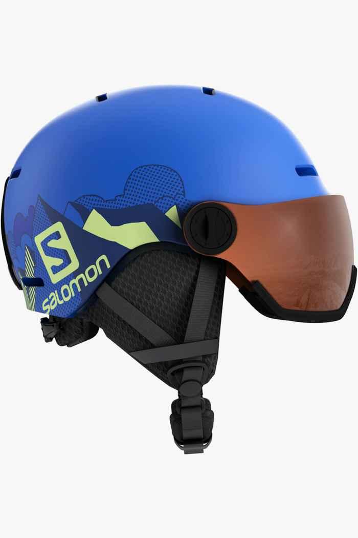 Salomon Grom Visor casque de ski enfants Couleur Bleu 1