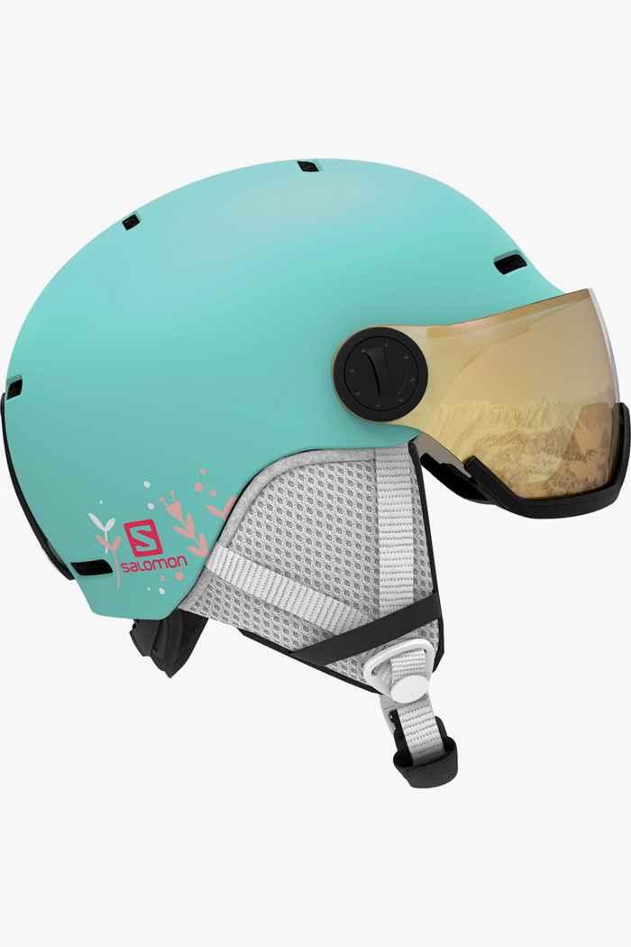 Salomon Grom Visor casque de ski filles Couleur Menthe 1