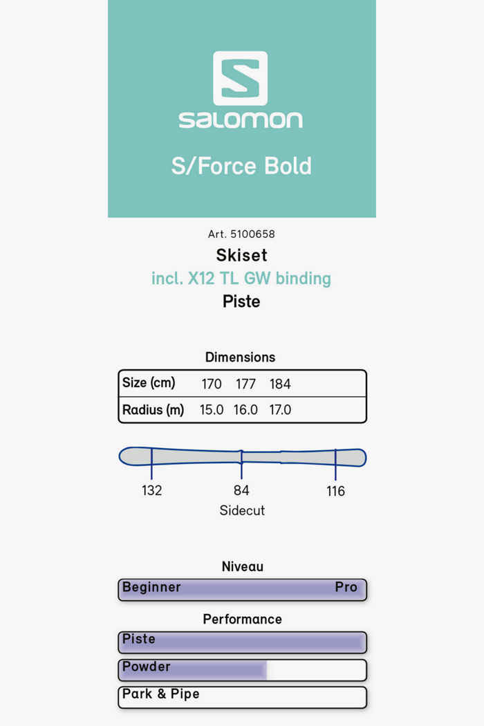 Salomon S/Force Bold ski set 20/21 2