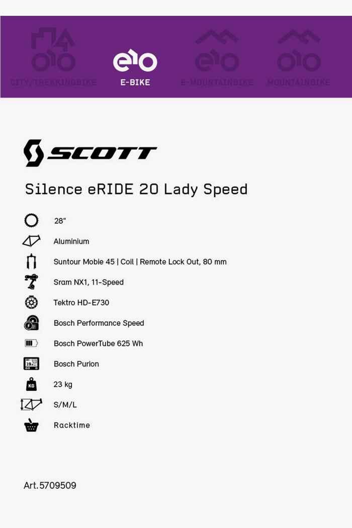 Scott Silence eRIDE 28 e-bike femmes 2021 2