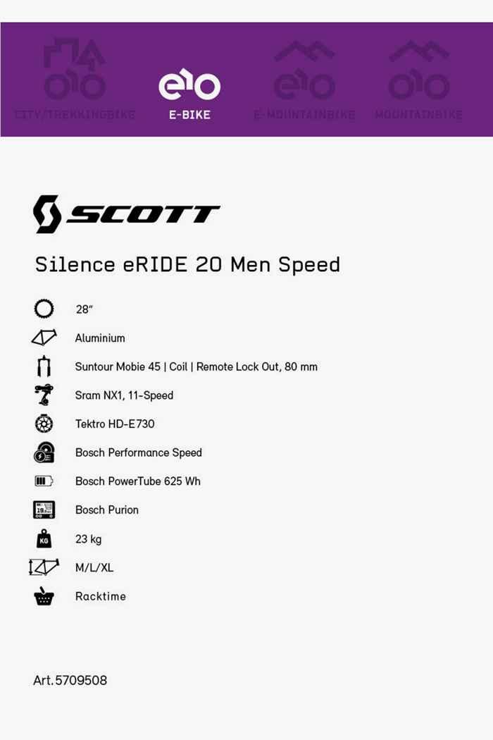 Scott Silence eRIDE 28 e-bike hommes 2021 2