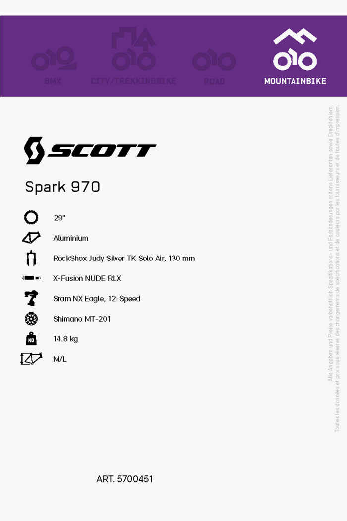 Scott Spark 970 29 mountainbike hommes 2021 2