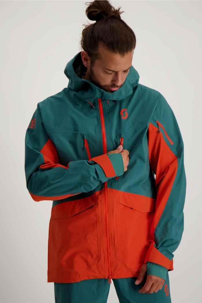 Scott Vertic DRX 3L veste de ski hommes Couleur Orange 1