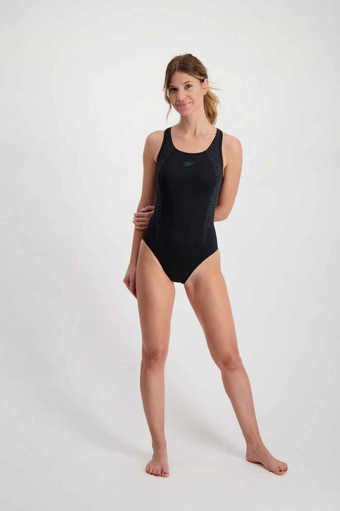Speedo Boomstar Splice Flyback maillot de bain femmes Couleur Noir/gris 1