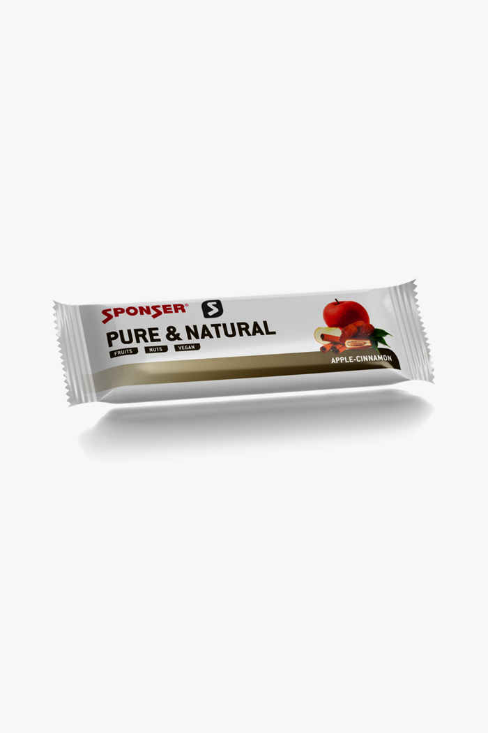 Sponser Pure & Natural Bar Apple-Cinnamon 25 x 50 g barre énergétique 1