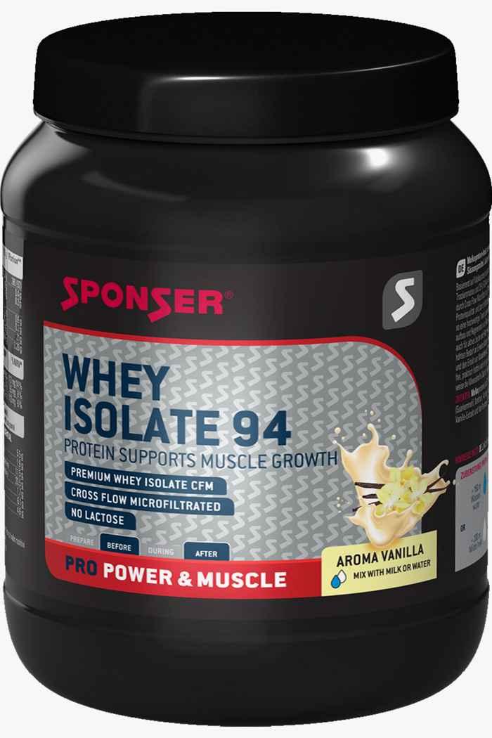 Sponser Whey Isolate 94 425 g poudre de protéines Couleur Noir 1
