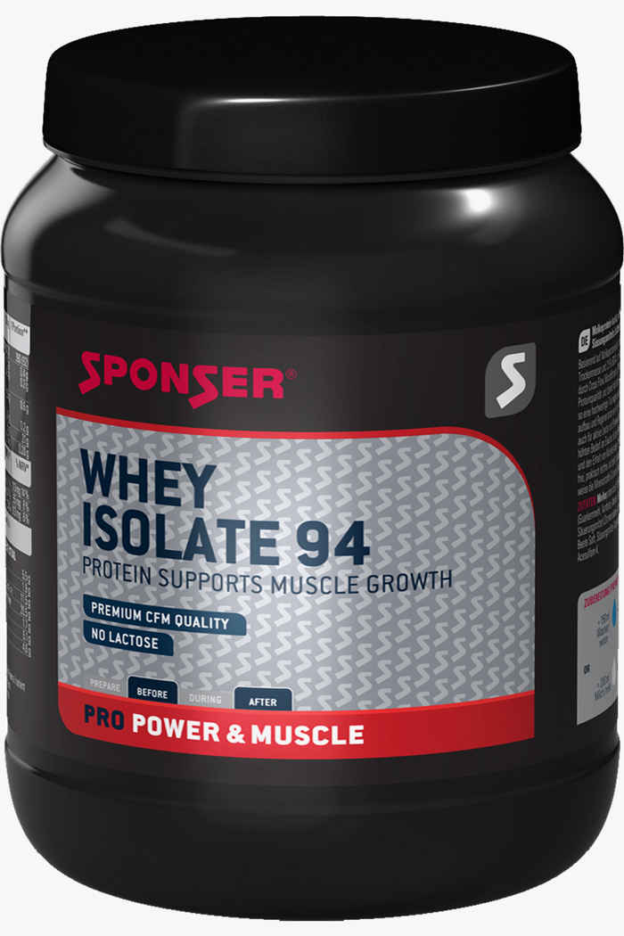 Sponser Whey Isolate 94 Banana 1500 g polvere proteica Colore Nero 1