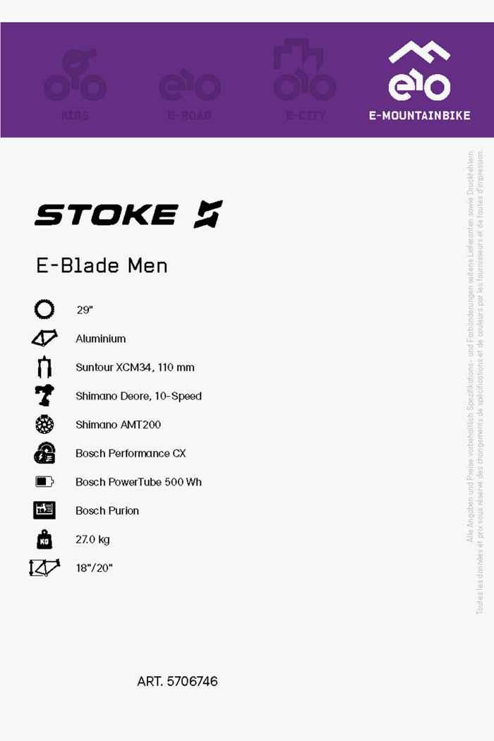 Stoke E-Blade 29 e-mountainbike hommes 2021 2