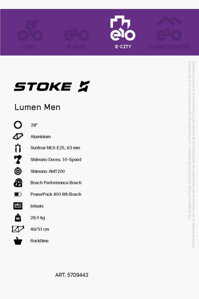 Stoke Lumen 28 e-bike hommes 2020 2