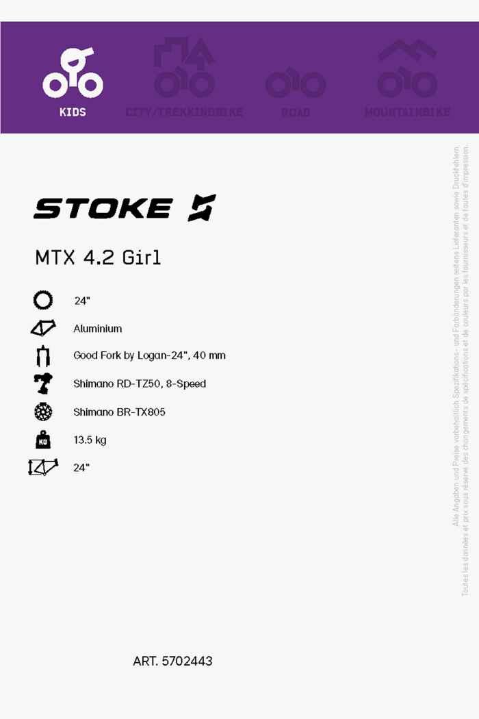 Stoke MTX 4.2 24 mountainbike filles 2021 Couleur Violett 2