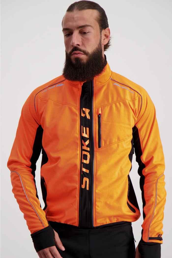 Stoke Performance Herren Bikejacke Farbe Orange 1