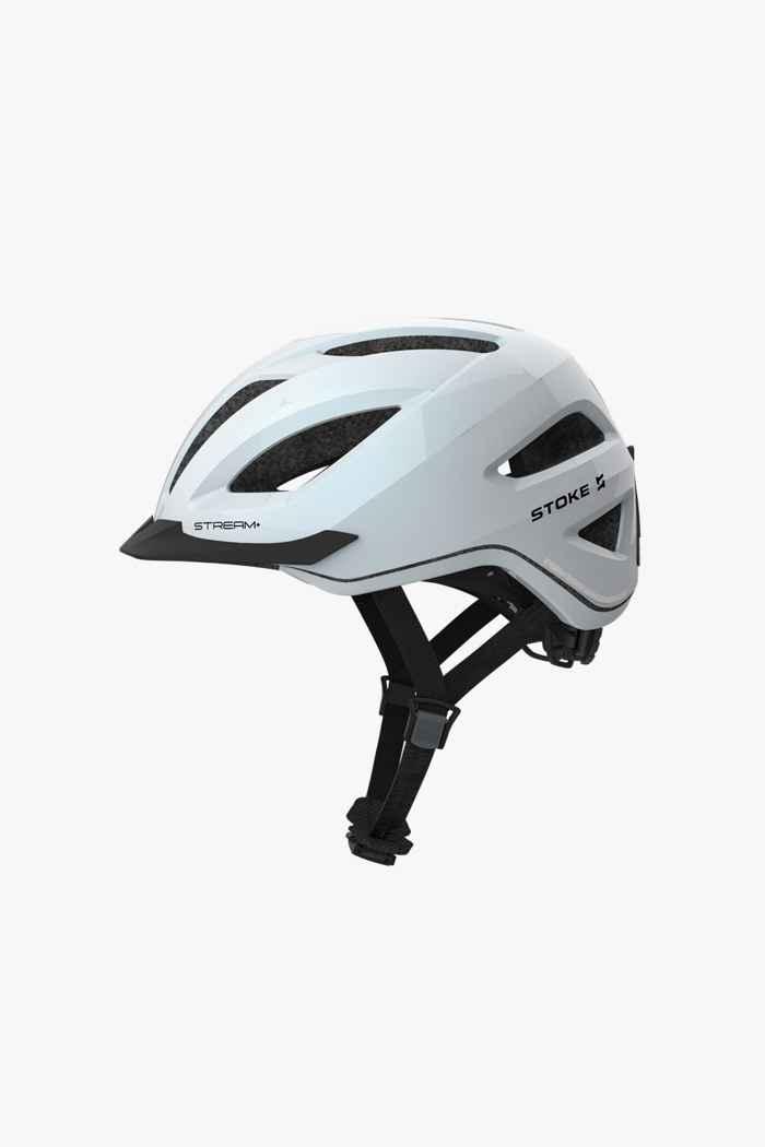 Stoke Stream+ casco per ciclista Colore Bianco 1