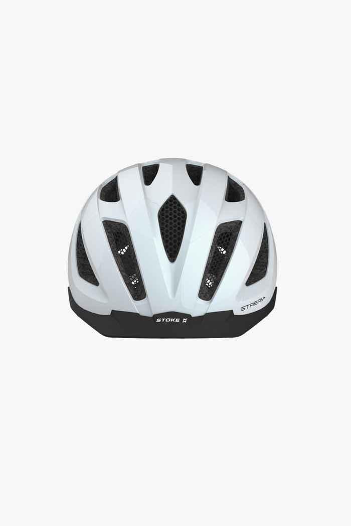 Stoke Stream+ casco per ciclista Colore Bianco 2