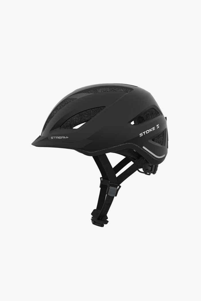 Stoke Stream+ casco per ciclista Colore Nero 1